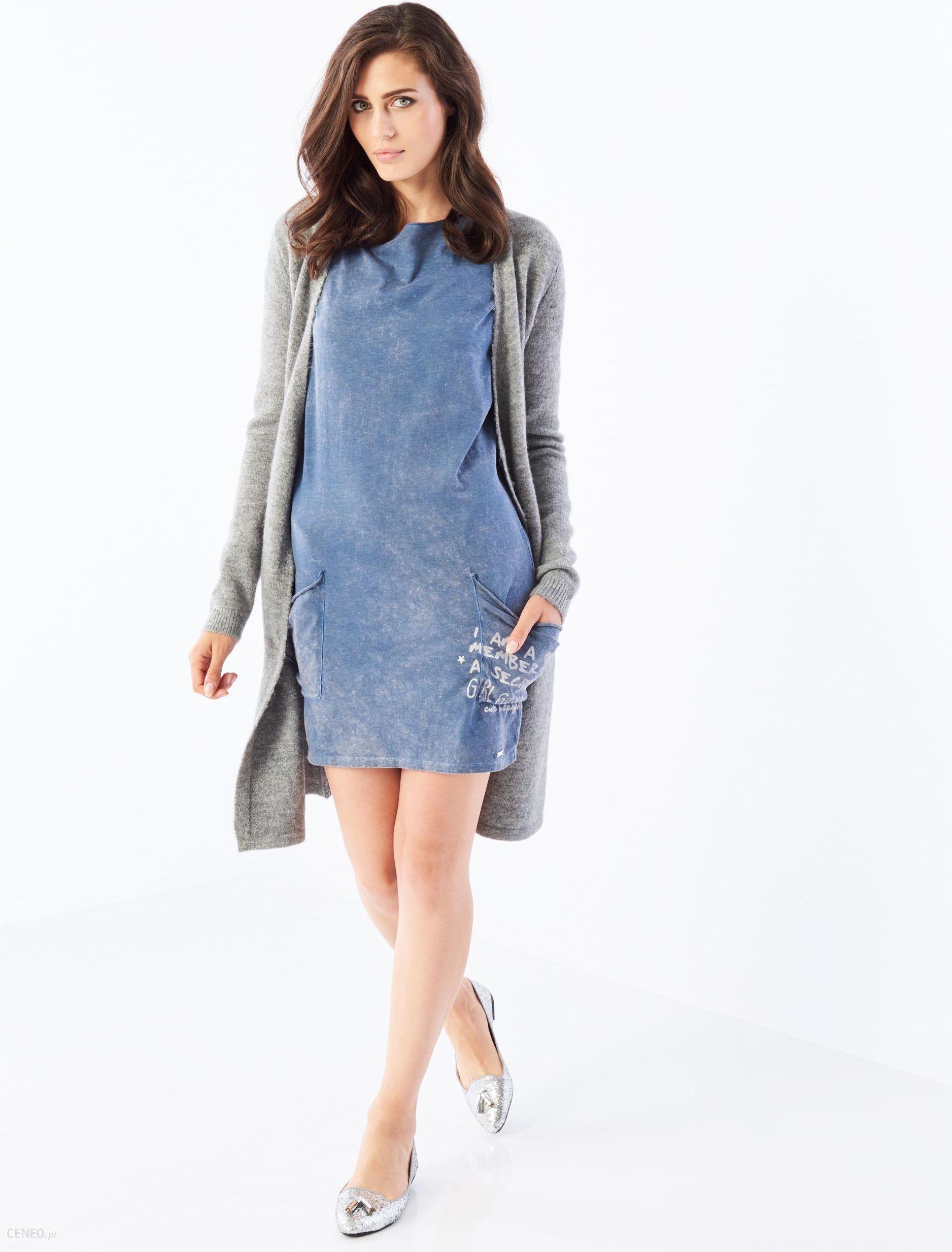 6d1cd240d2 Sukienka oversize z kieszeniami after hours - Mohito - Niebieski - damska -  zdjęcie 1