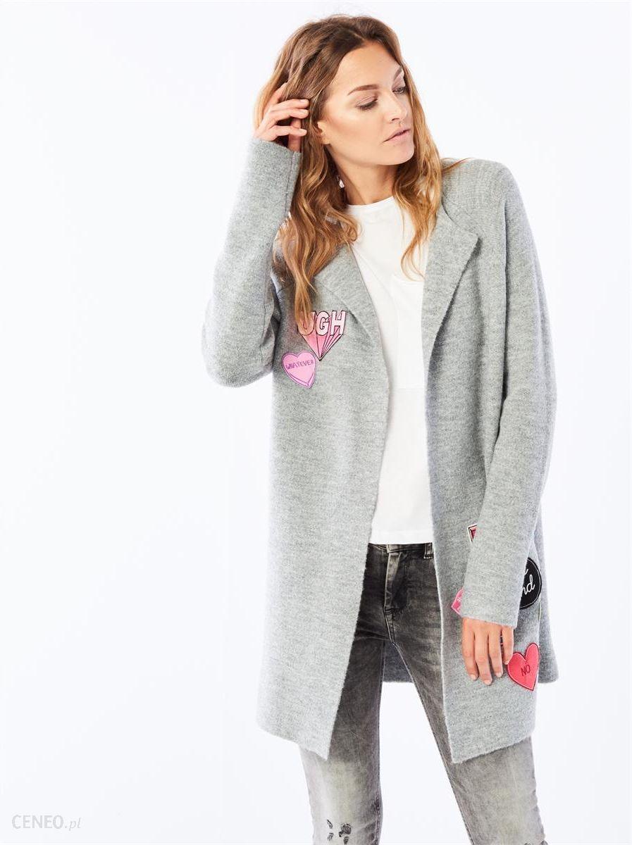 bd6860ce90ba Długi sweter z naszywkami - Mohito - Szary - damska - Ceny i opinie ...