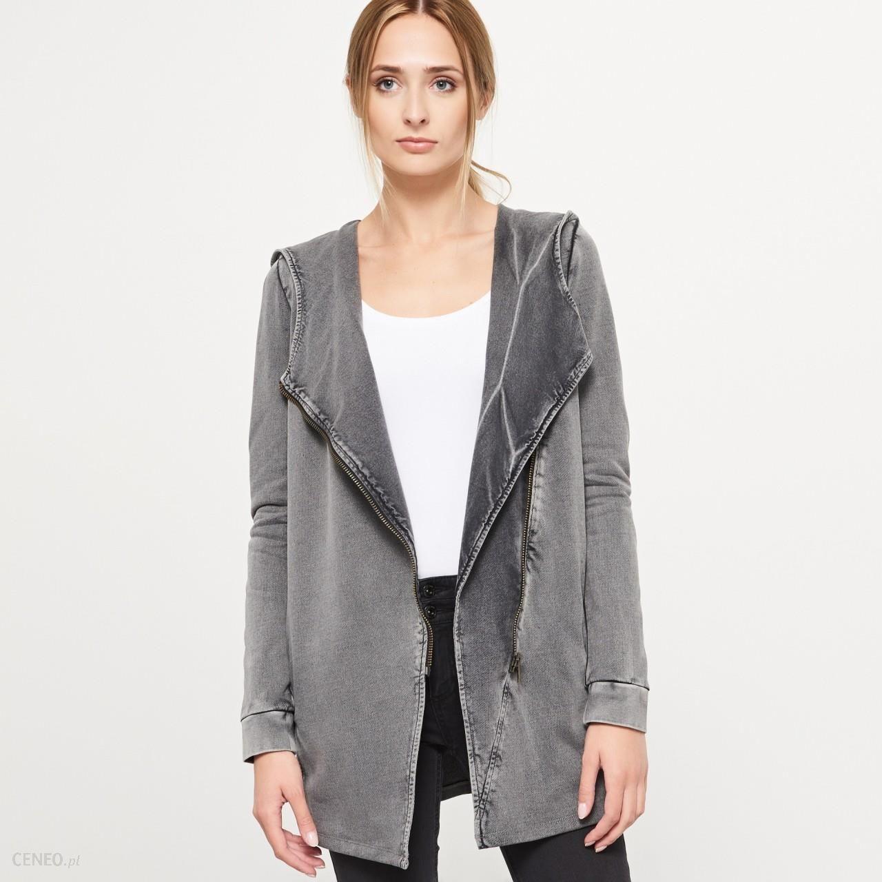 f2e55e2d0cb83b Asymetryczna bluza yfl - Reserved - Szary - damska - Ceny i opinie ...
