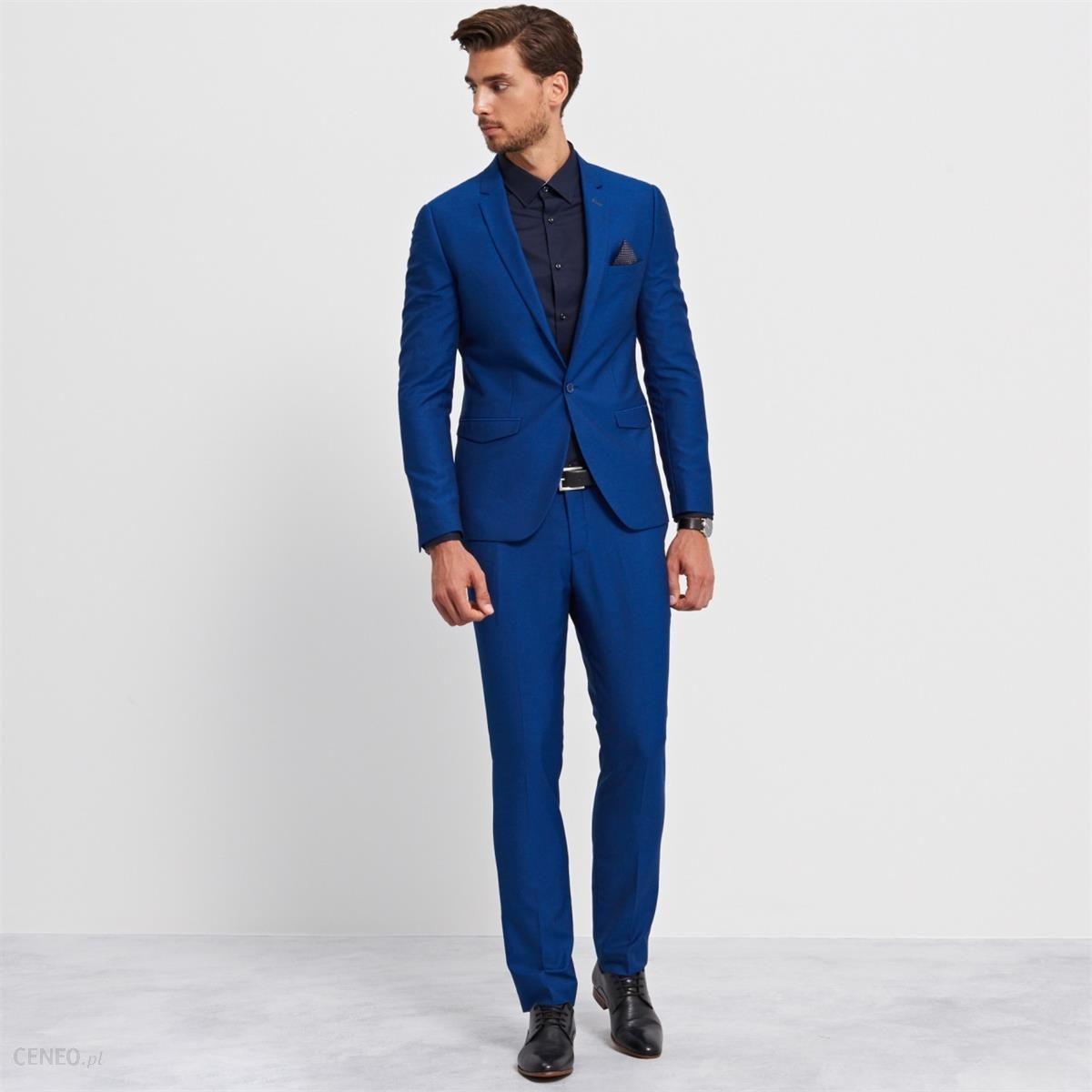 fcbc94ca5660d Spodnie od garnituru slim fit - Reserved - Niebieski - męska - zdjęcie 1