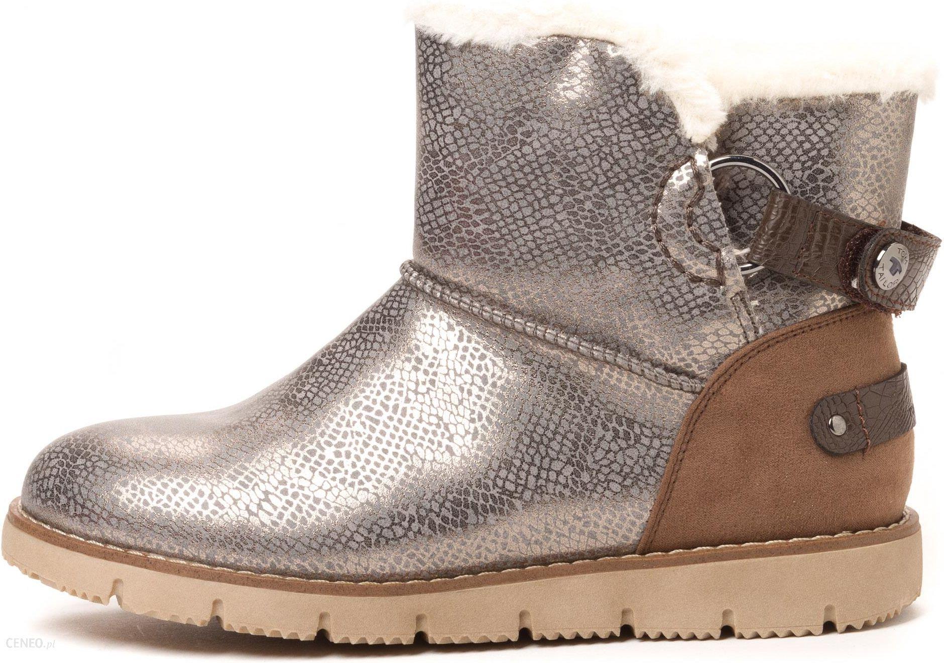 ba918da6d749fe Tom Tailor buty zimowe damskie 37 szary - Ceny i opinie - Ceneo.pl