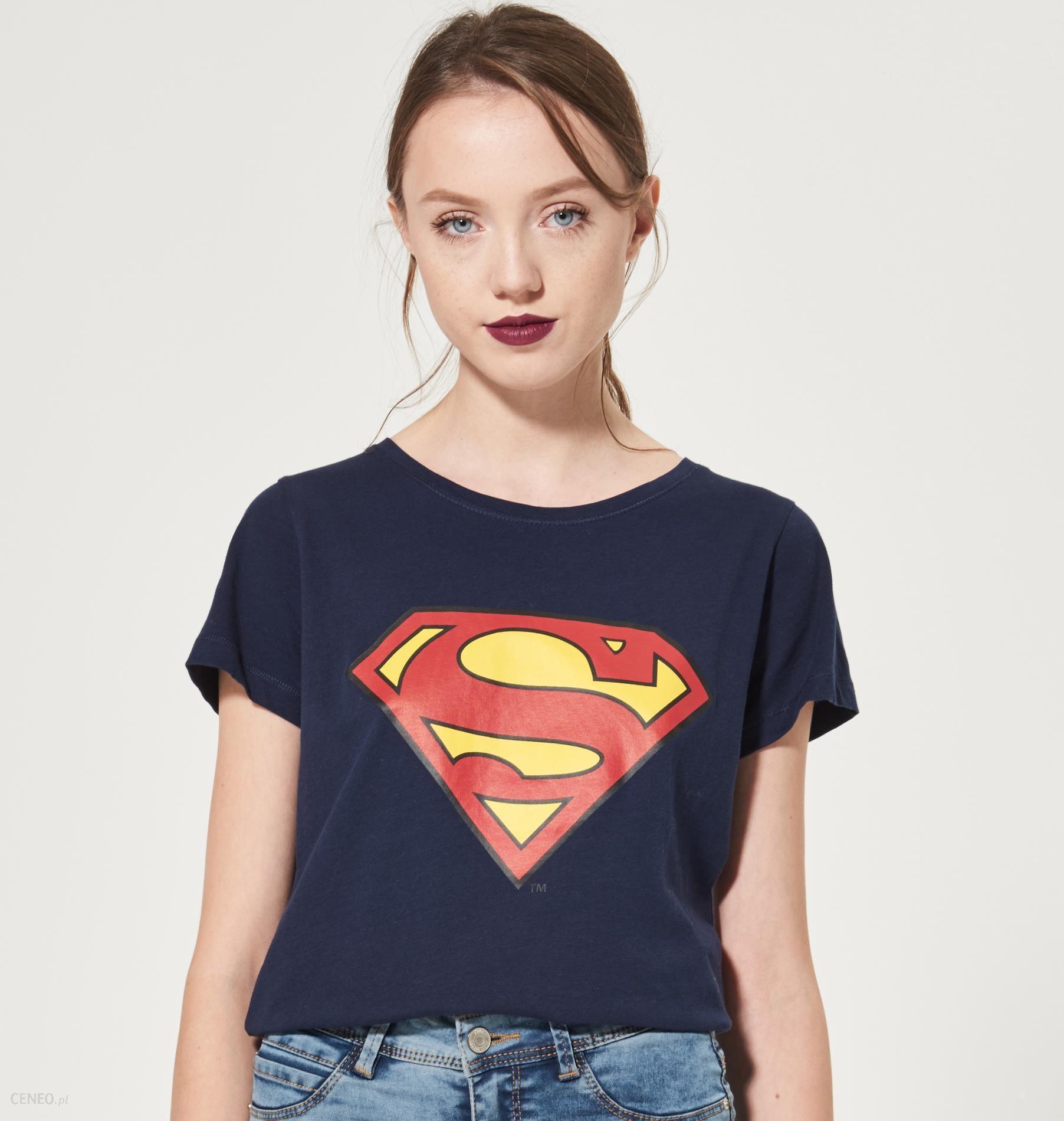 6c63fe8ac15c8d House - T-shirt superman - Granatowy - damska - Ceny i opinie - Ceneo.pl