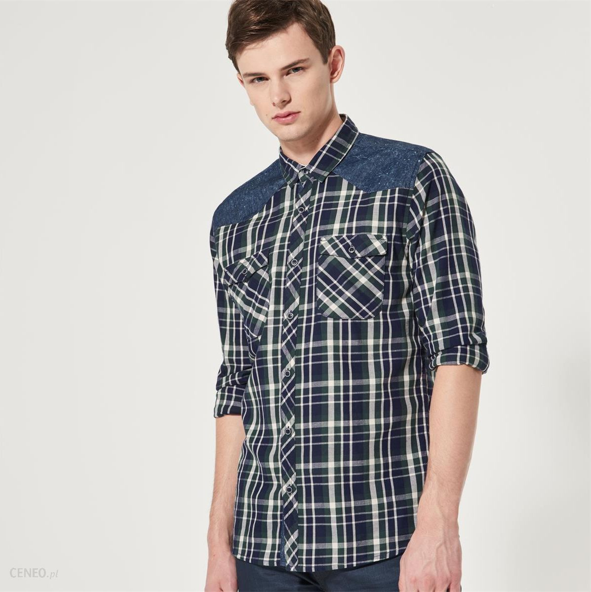 Koszula w drobną kratkę House Koszule w kratę męskie