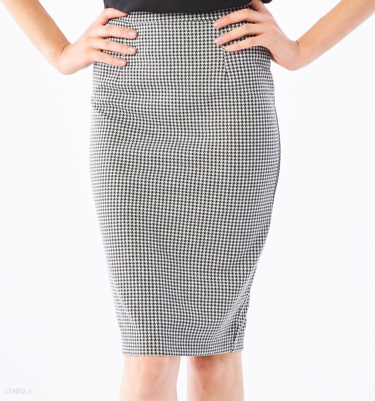 76af0362 Mohito - Elegancka ołówkowa spódnica w pepitkę - Biały - damska