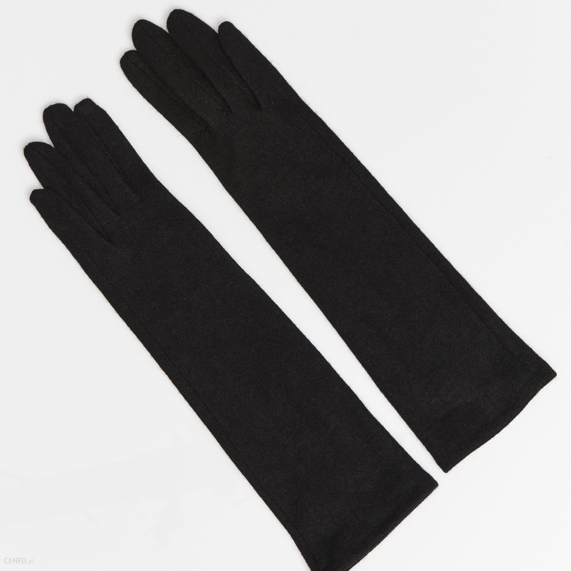 43dea2b2fcf68 Mohito - Długie wełniane rękawiczki touchscreen - Czarny - damska - zdjęcie  1