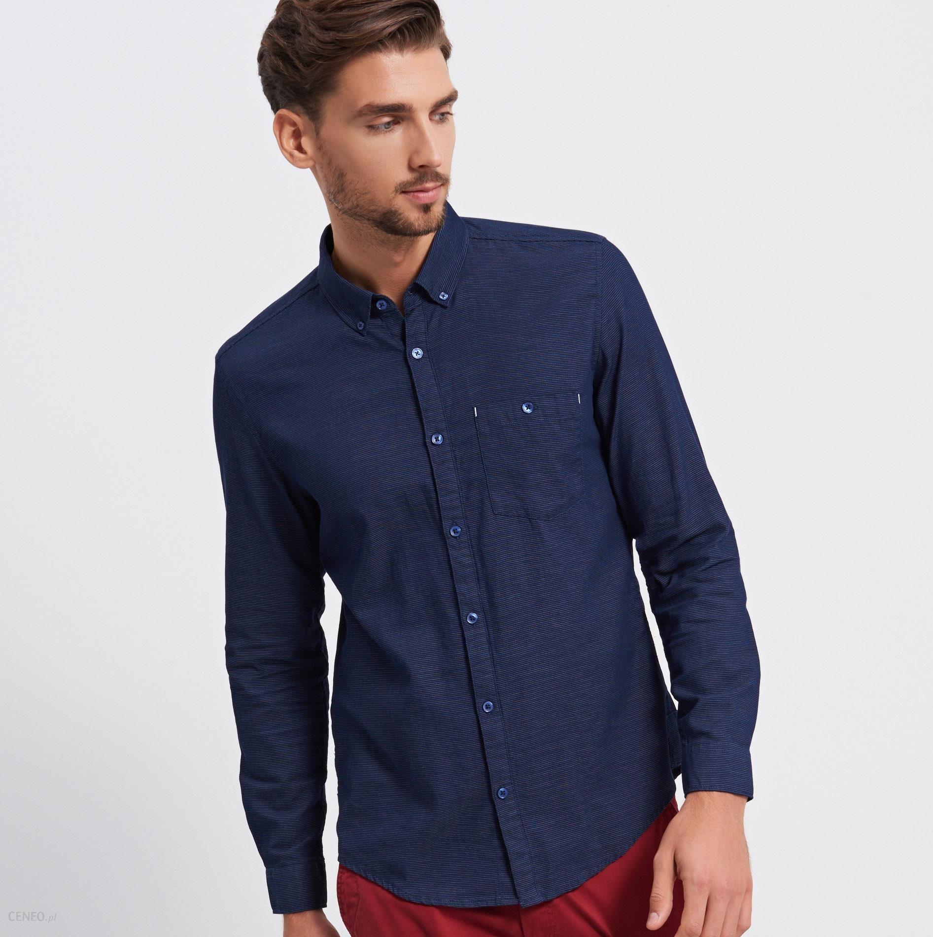 a3901fdc9415 Reserved - Koszula regular fit - Granatowy - męska - Ceny i opinie ...