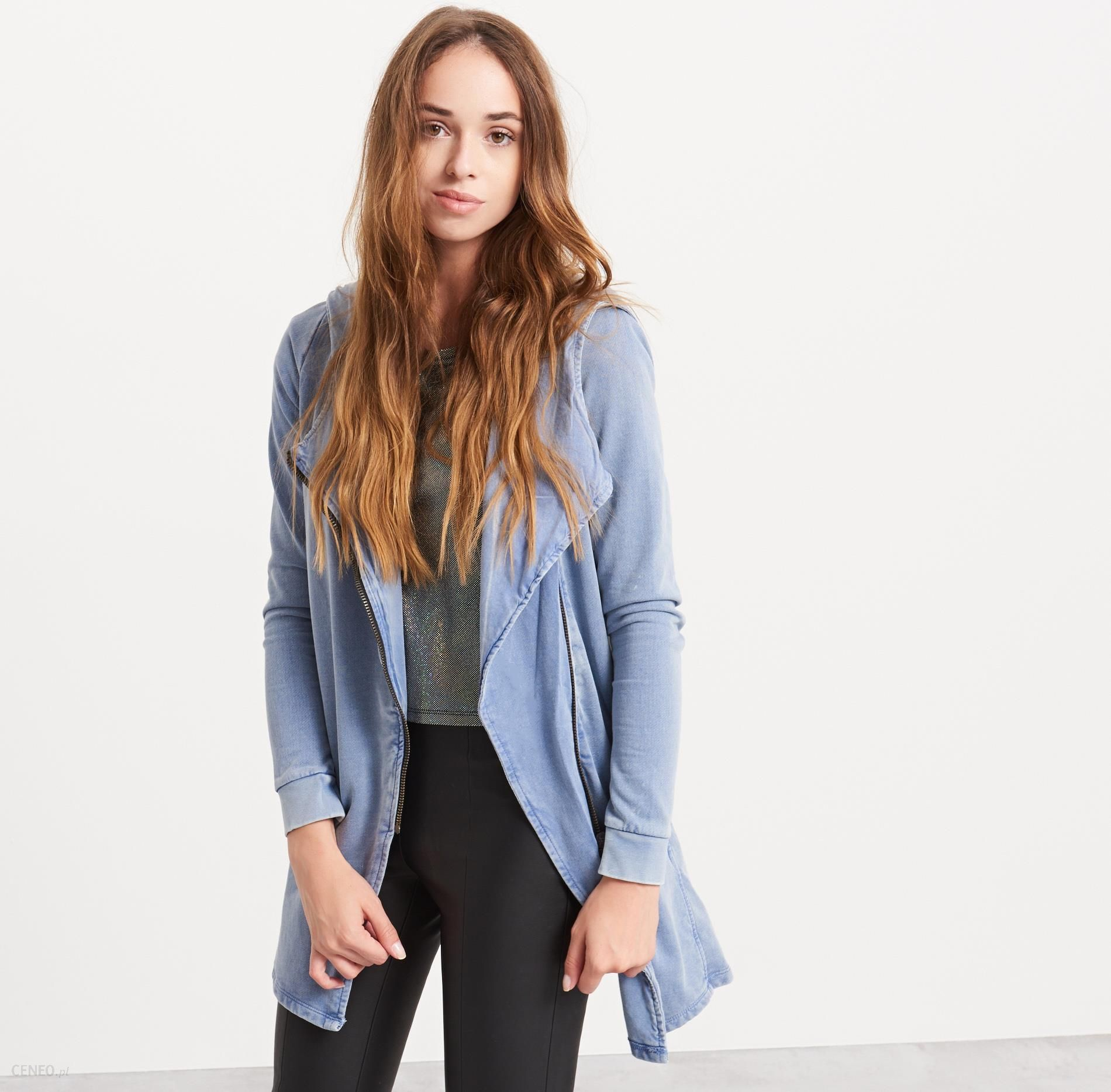 8ee953b20655f5 Reserved - Asymetryczna bluza yfl - Niebieski - damska - Ceny i ...