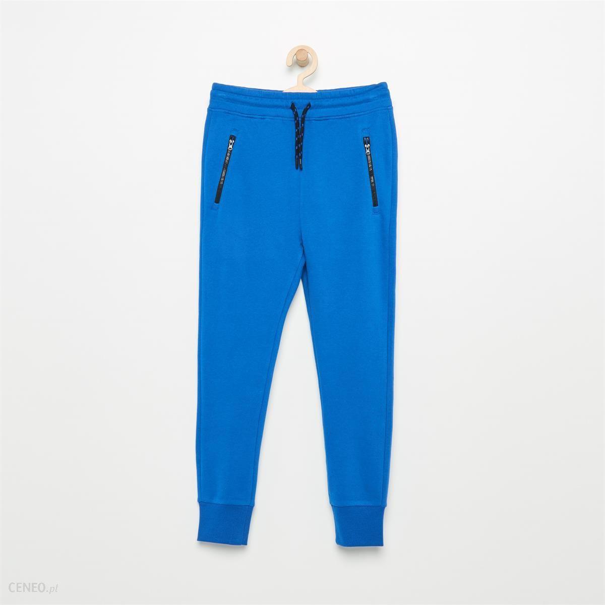 74d53d14ea14 Reserved - Dresowe spodnie z zamkami - Niebieski - męska - Ceny i ...