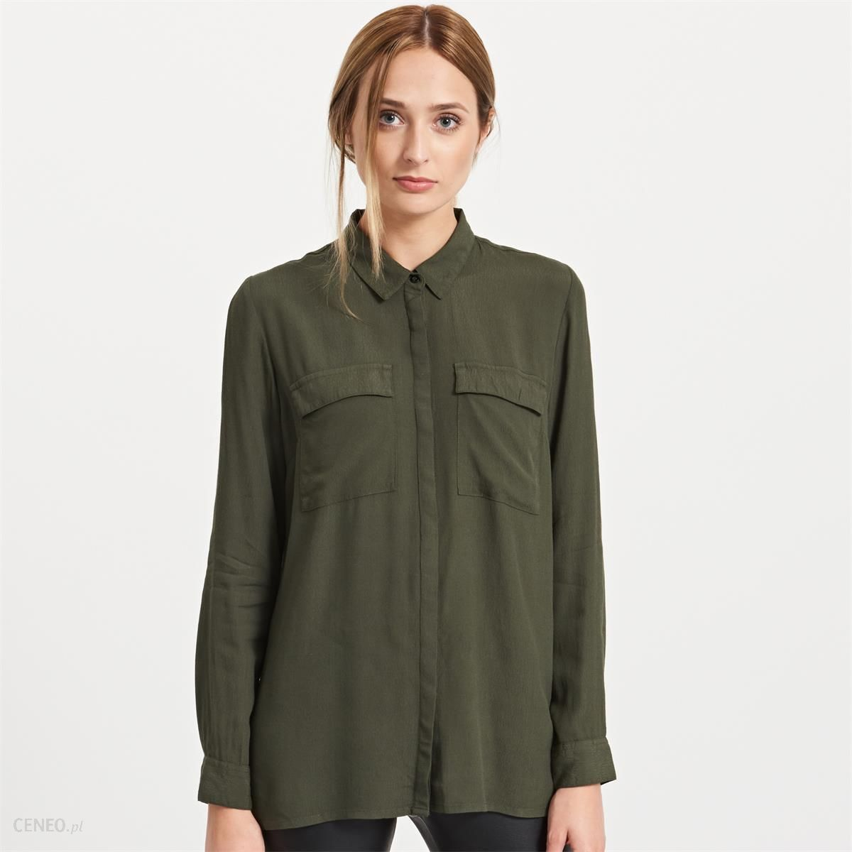 Reserved Koszula khaki Zielony damska Ceny i opinie