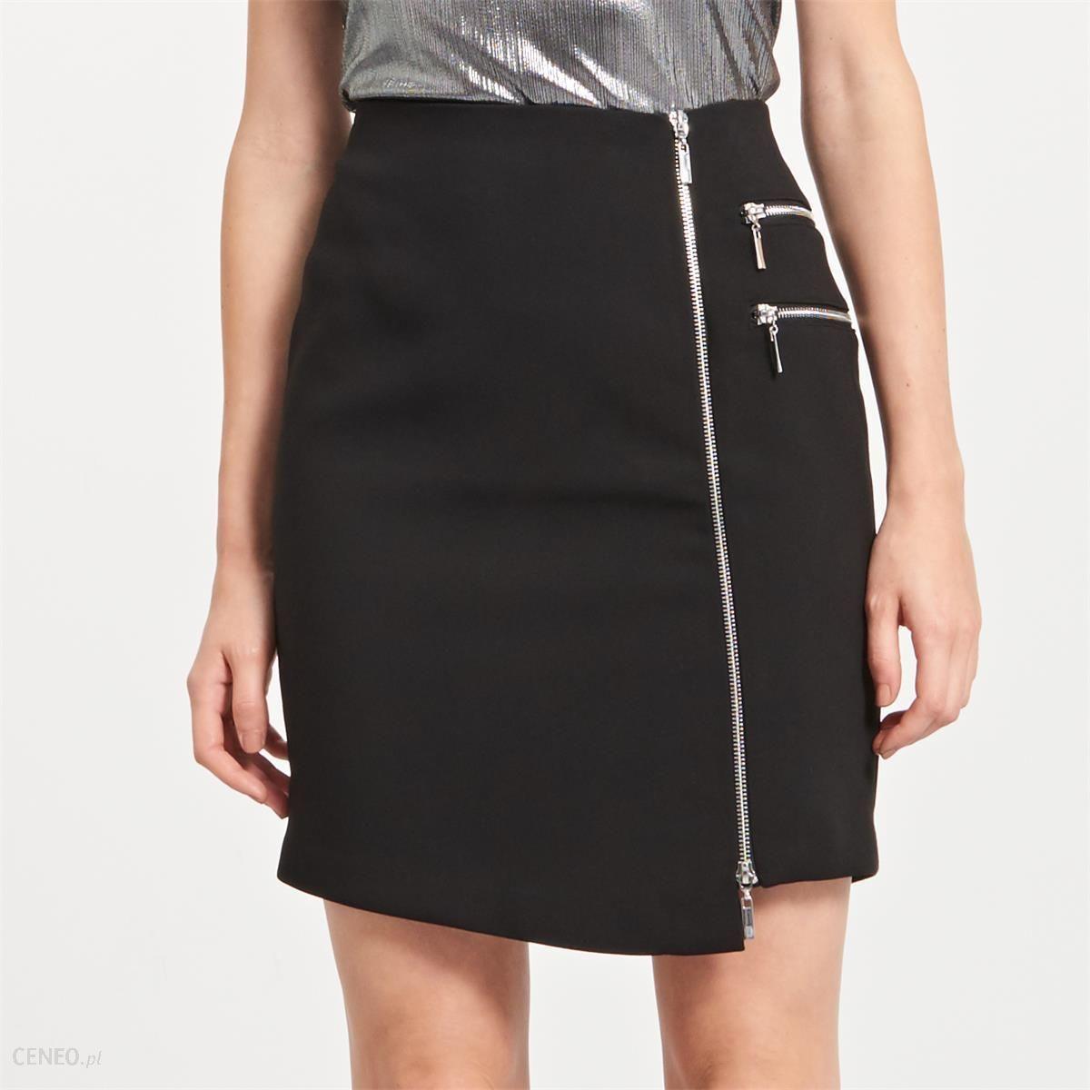 Reserved Ołówkowa spódnica z zamkiem Czarny damska