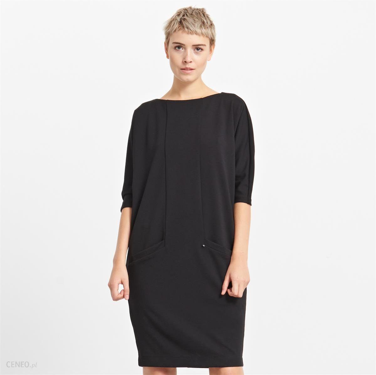 e3a2126e4a Reserved - Sukienka oversize z kieszeniami - Czarny - damska - zdjęcie 1