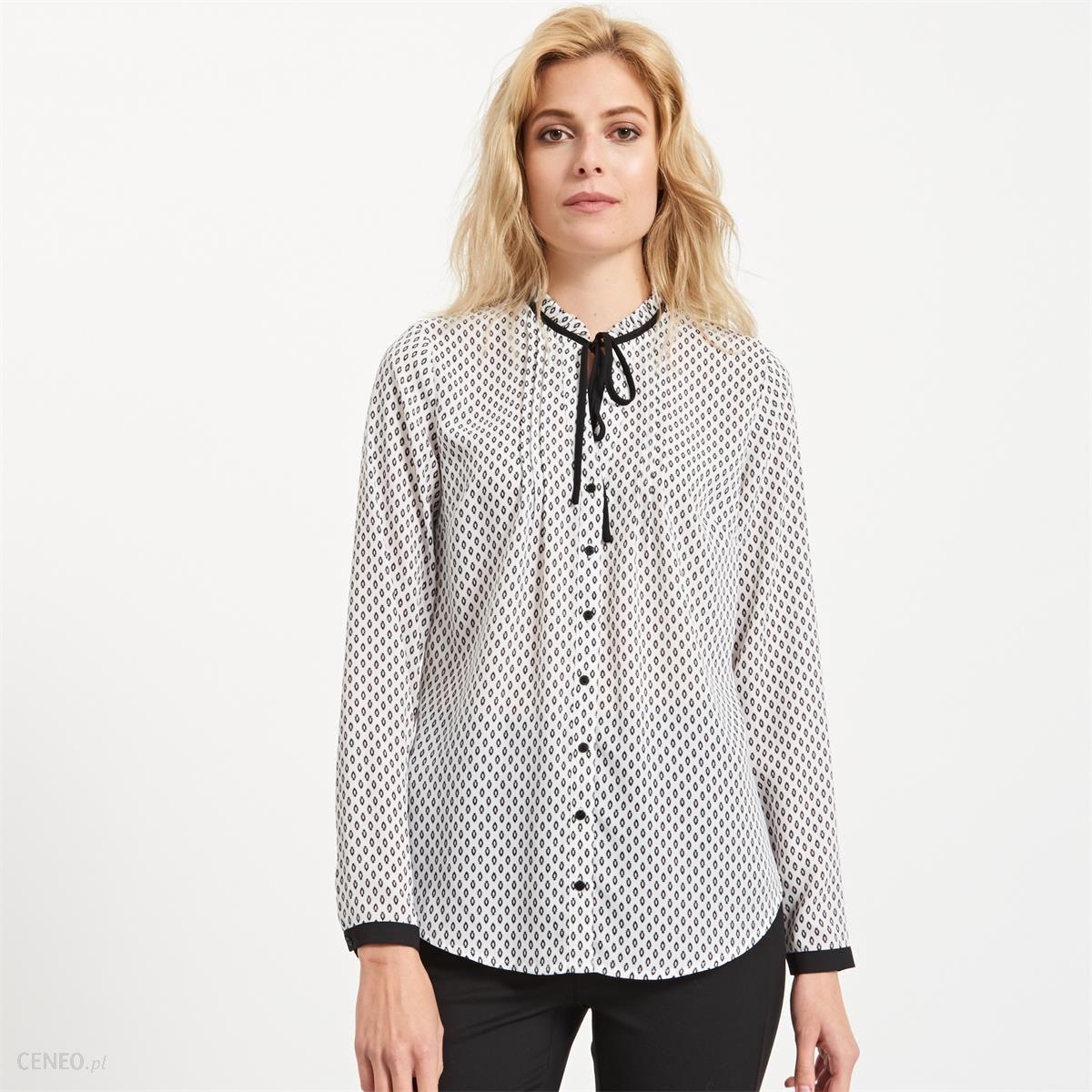 Reserved - Koszula z wiązaniem przy szyi - Kremowy - damska - Ceny i ... 15d1a2ac15