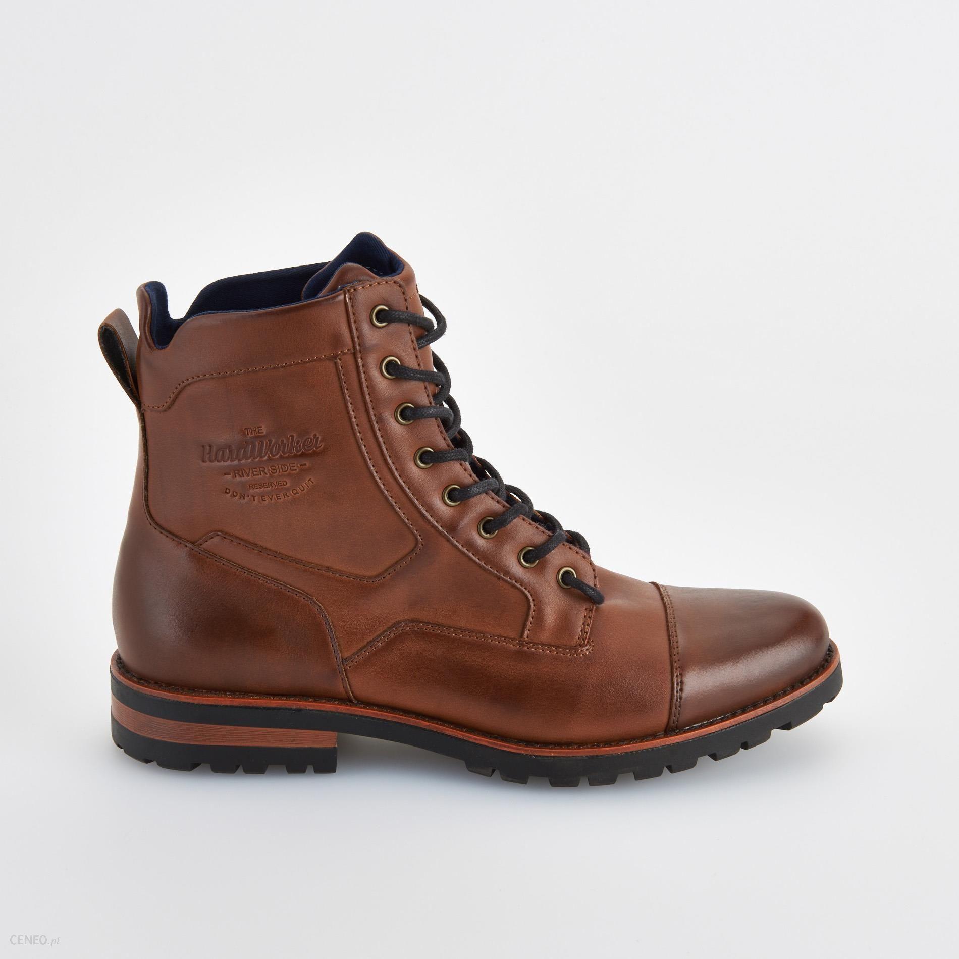 Reserved Sznurowane buty za kostkę Brązowy męska