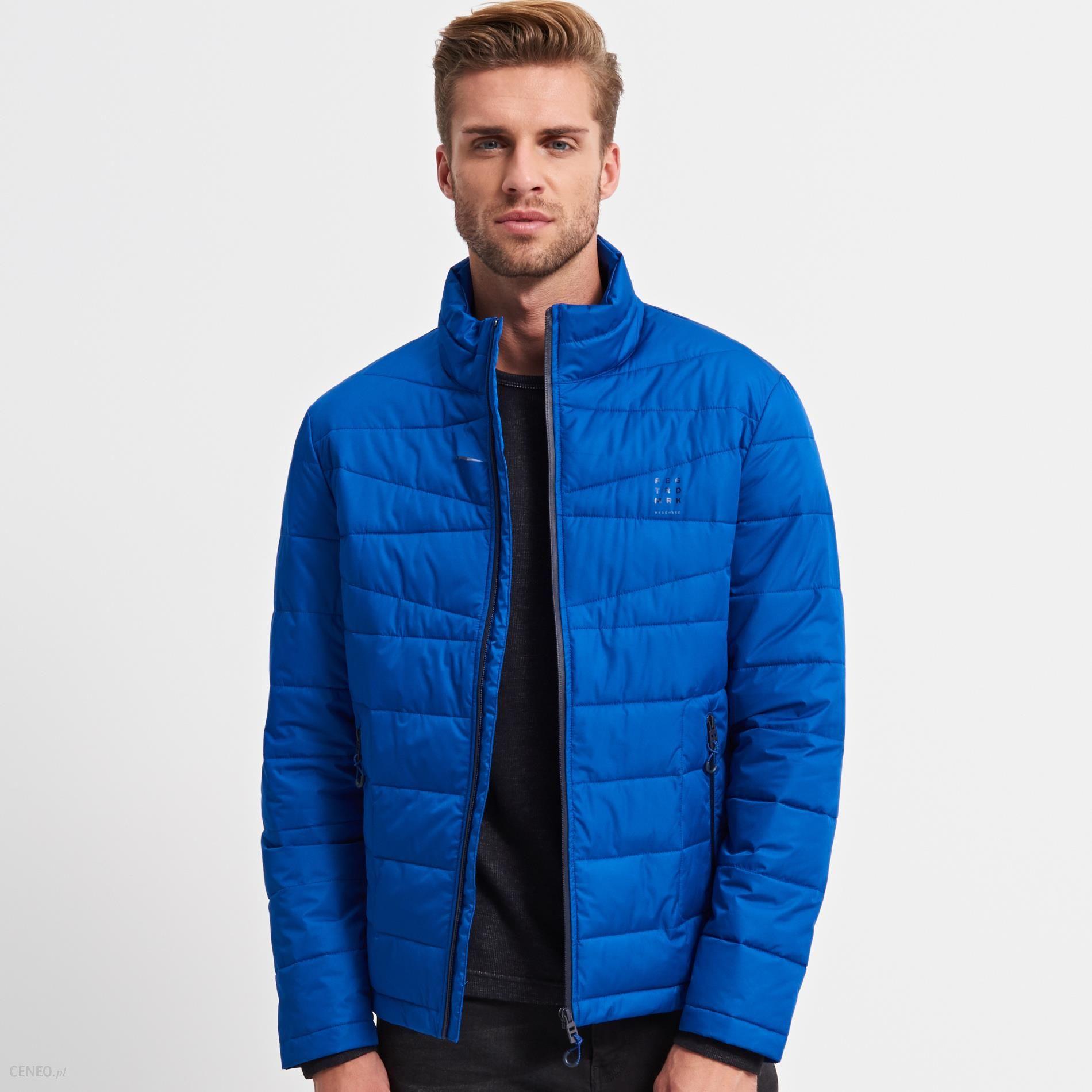 7680c286c73e7 Reserved - Pikowana kurtka - Niebieski - męska - Ceny i opinie ...