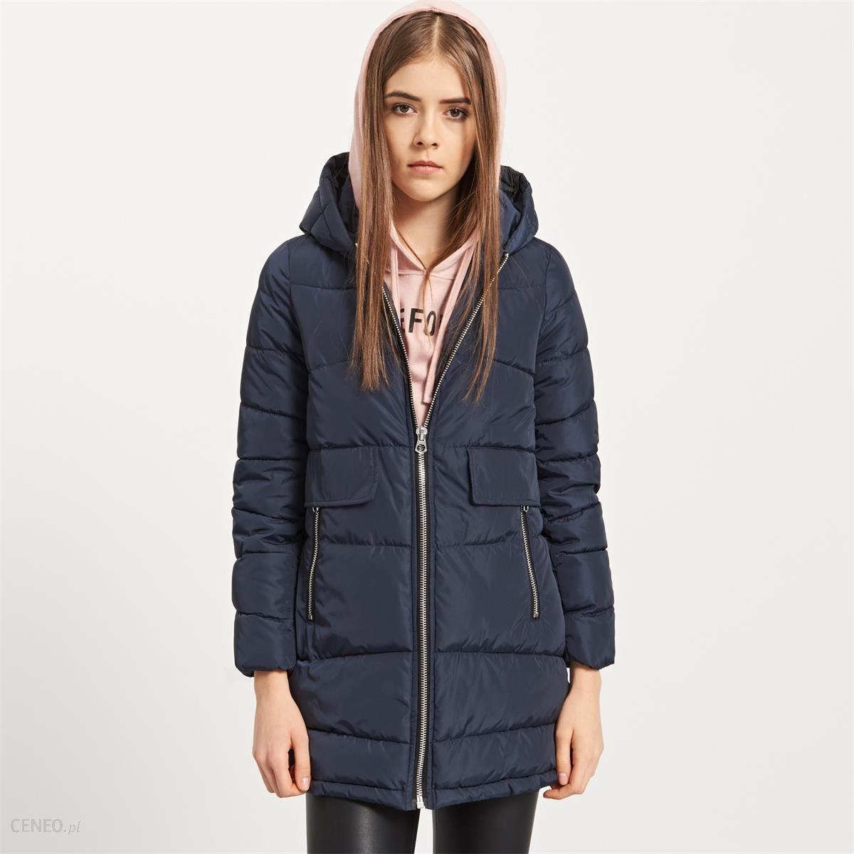 c8b48ad45 Reserved - Pikowana kurtka z kapturem yfl - Granatowy - damska - zdjęcie 1