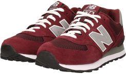 Sneakersy NEW BALANCE M574NBU Bordowy