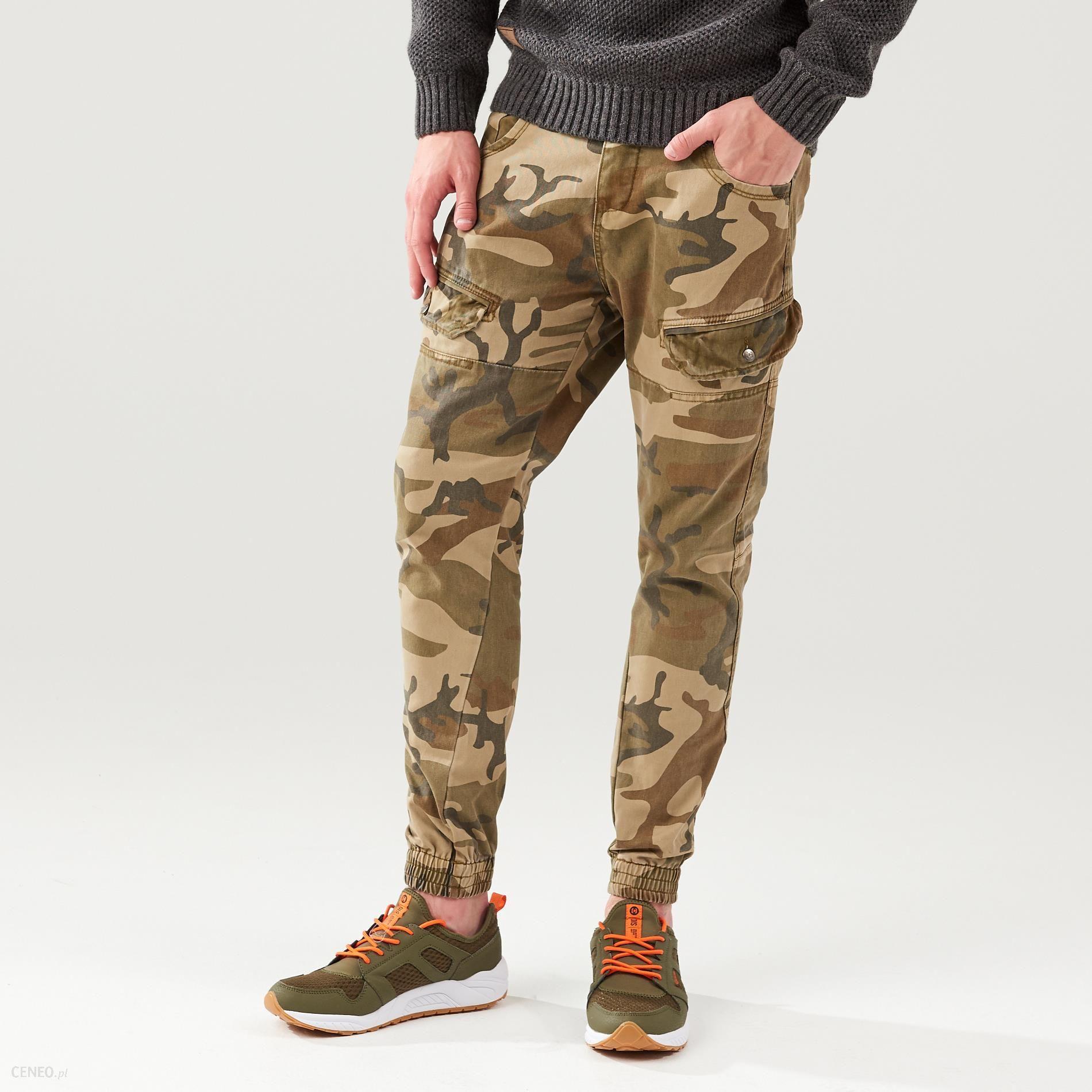 Cropp Spodnie moro slim fit Zielony damska