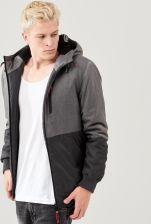 Cropp Ciepła kurtka zimowa z kapturem Szary męska