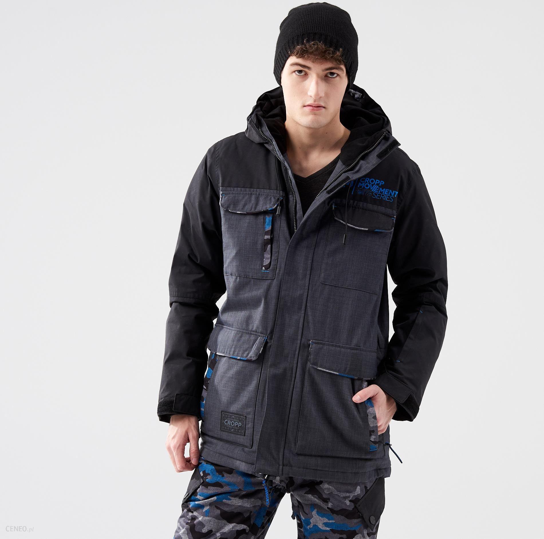 Cropp Zimowa kurtka narciarska Szary męska