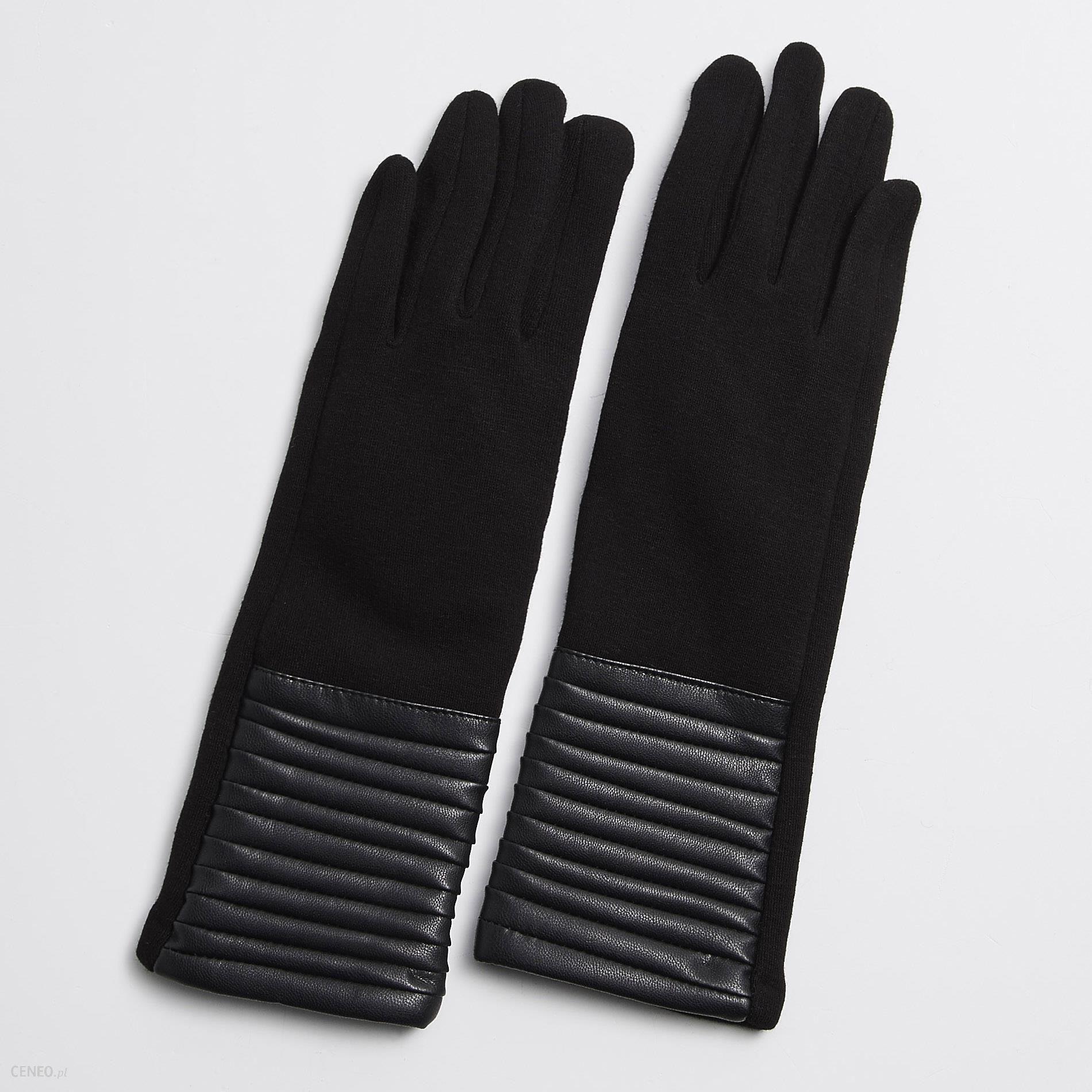 8a6aa9b60d078 Sinsay - Długie rękawiczki - Czarny - damska - Ceny i opinie - Ceneo.pl
