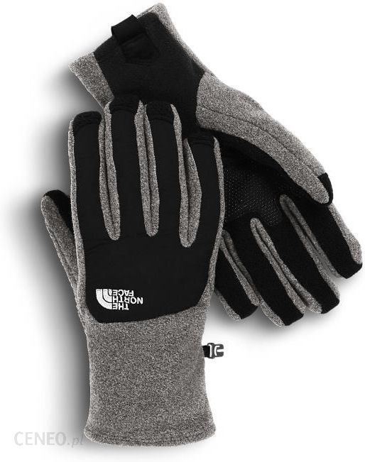 najlepsze trampki najnowszy projekt amazonka The North Face Rękawice M Denali Etip Glove Charcoal grey heather/TNF black  M