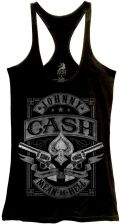 6be0c3ad Johnny Cash Mean As Hell Women's Racer Tank T-Shirt - Ceneo.pl