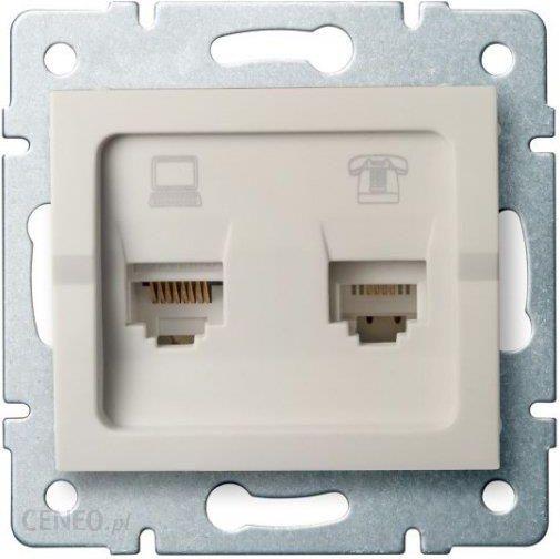 Gniazdo Elektryczne Kanlux Logi Gniazdo Komputerowo Telefoniczne Rj45 Cat 5e Rj11 Kremowy 25171 Opinie I Ceny Na Ceneo Pl
