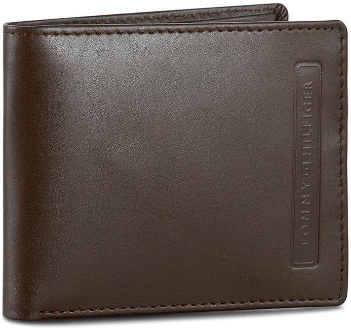 a4214c7c74ad7 Mały Portfel Męski TOMMY HILFIGER - Casual Cool Mini Cc Wallet AM0AM01537  Brown 041 - zdjęcie