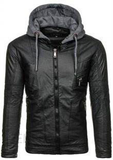 Czarna kurtka męska skórzana Denley 3102 Ceny i opinie