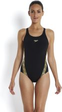 Speedo Kostium Kąpielowy Monogram Muscleback Black Gold
