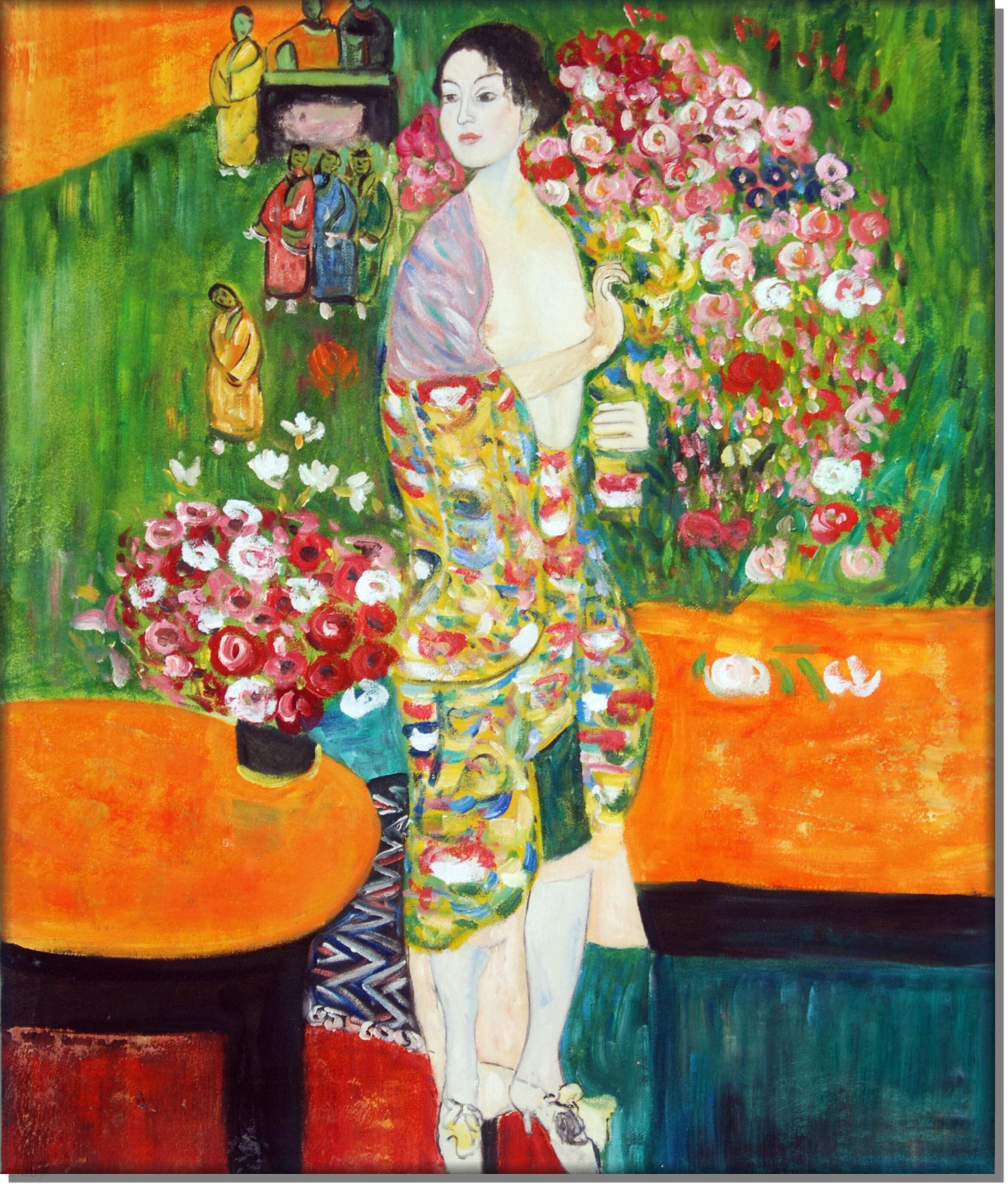 Die Tänzerin The Dancer by Gustav Klimt 1918 Giclee Art