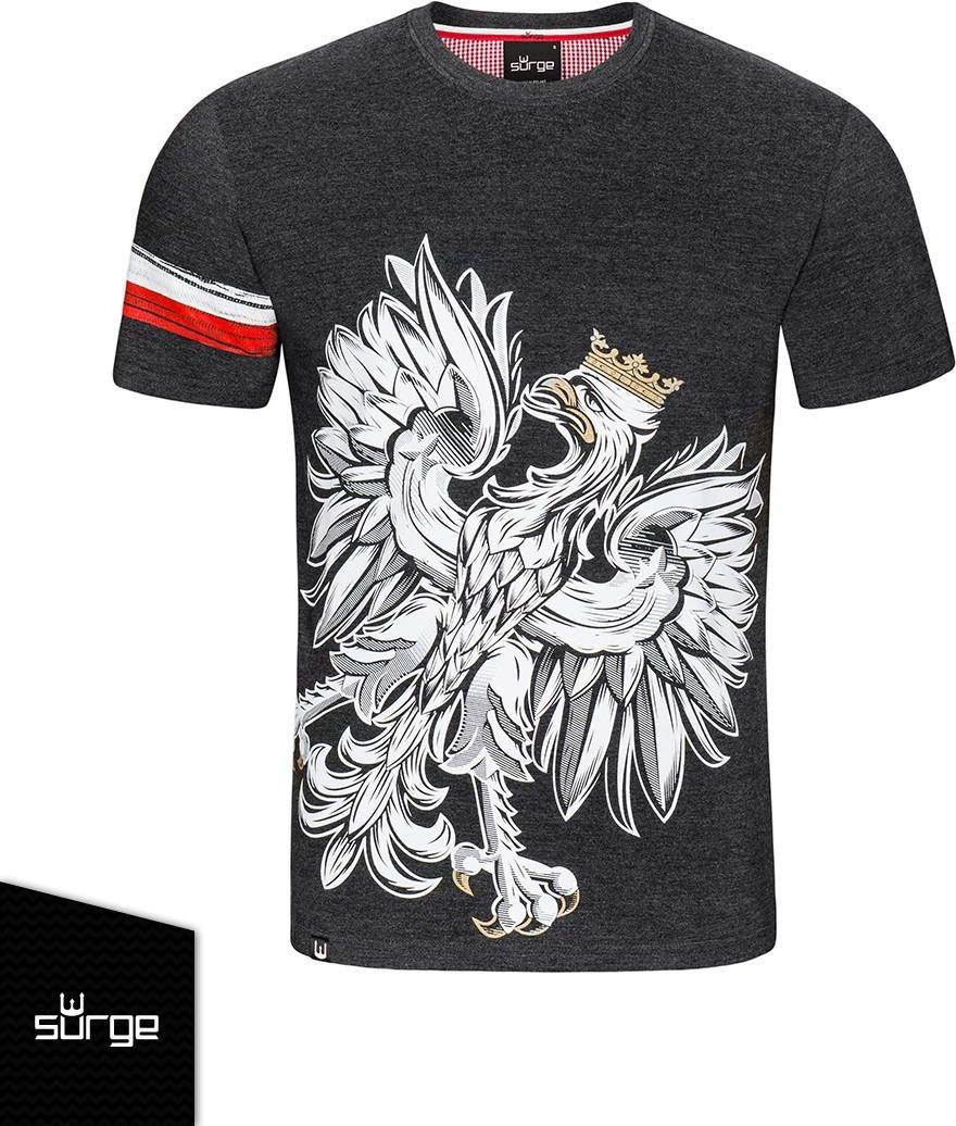 b625162cb Koszulka patriotyczna Orzeł Sport OPASKA (CIEMNY MELANŻ) 377 - zdjęcie 1