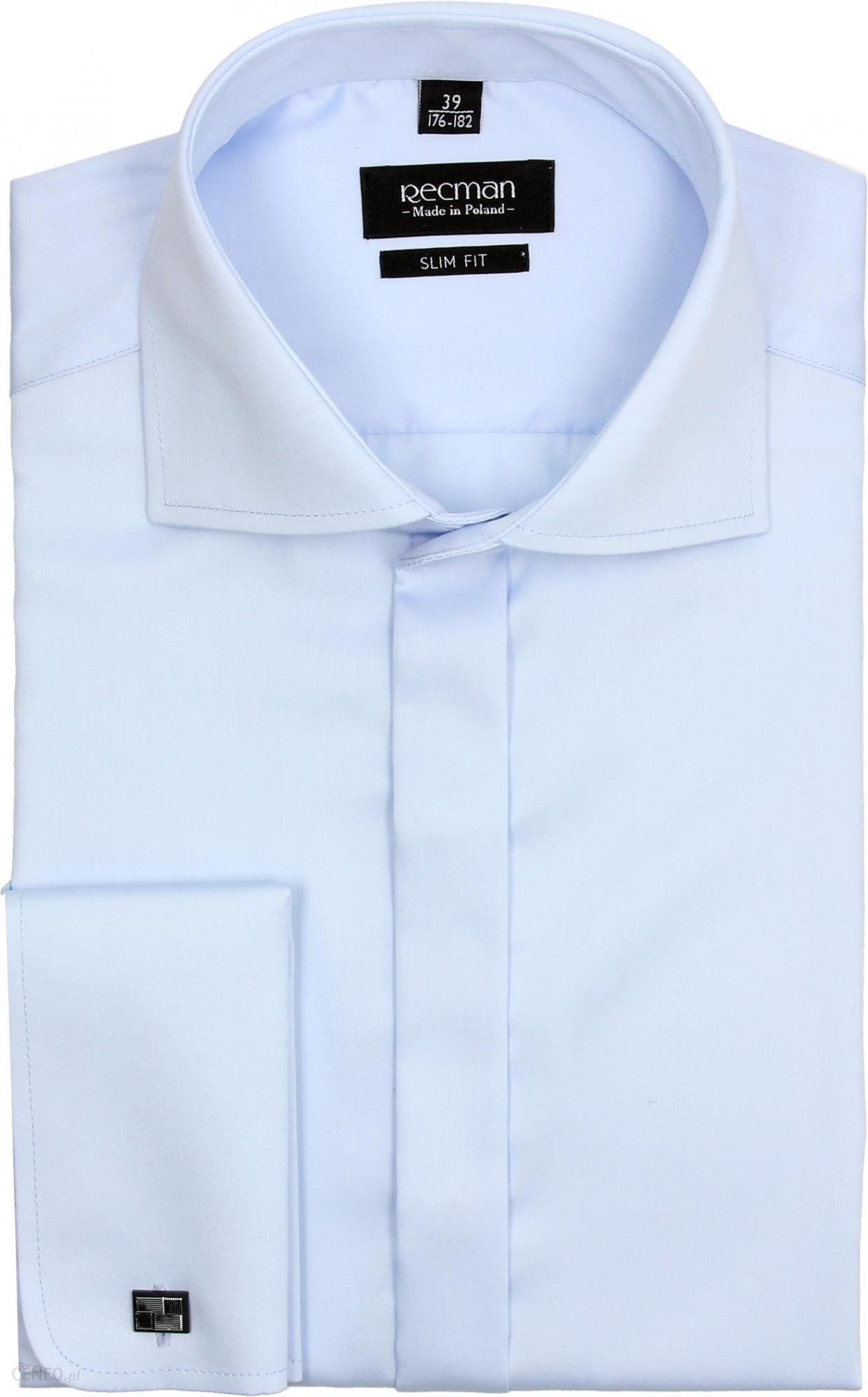 Koszula versone 2509 na spinki slim fit niebieski 164170 43  Y9o3r