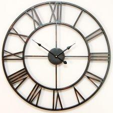 Duży Efektown Zegar ścienny Metal 50 Cm Loft Retro Opinie I