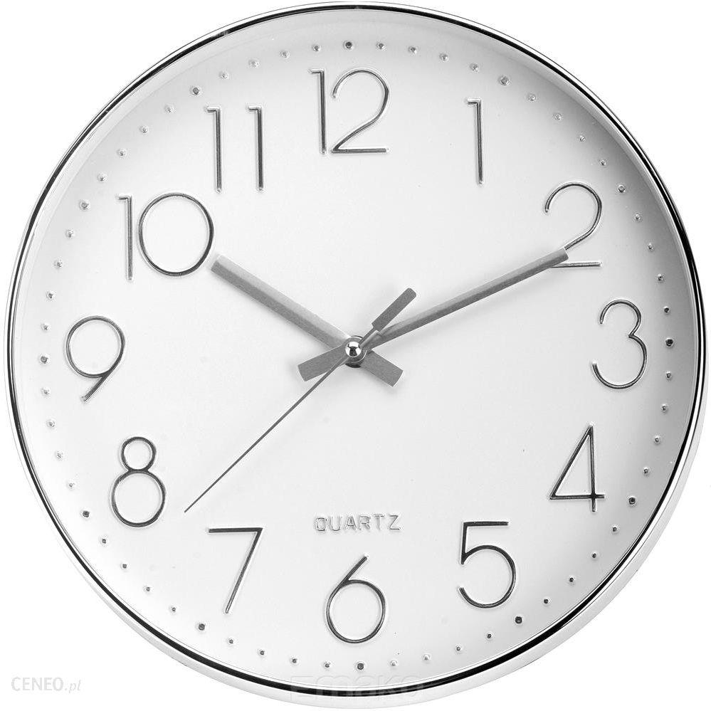 Emako Okrągły Zegar ścienny Srebrny 30 Cm B018e6w8zg