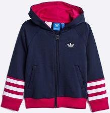 adidas bluza dziewczeca z kapturem.czerwona 158