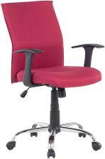 Beliani Krzesło Biurowe Czerwone Obrotowe Tapicerowane Do Komputera