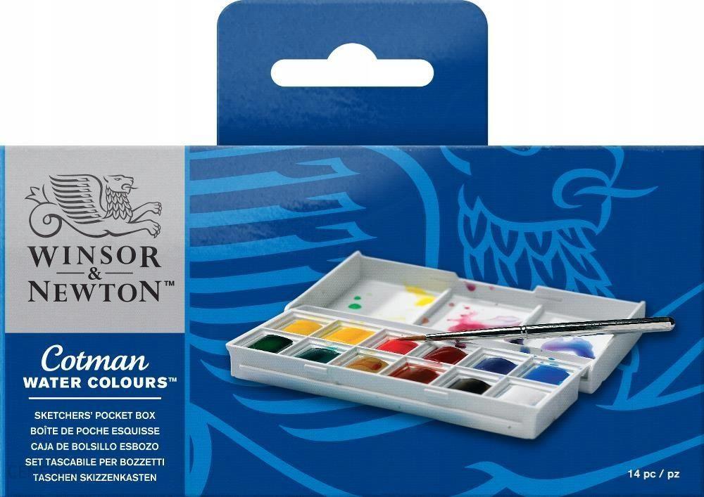 winsor & newton W&N Cotman SKETCHERS POCKET Zestaw farb akwarelowych