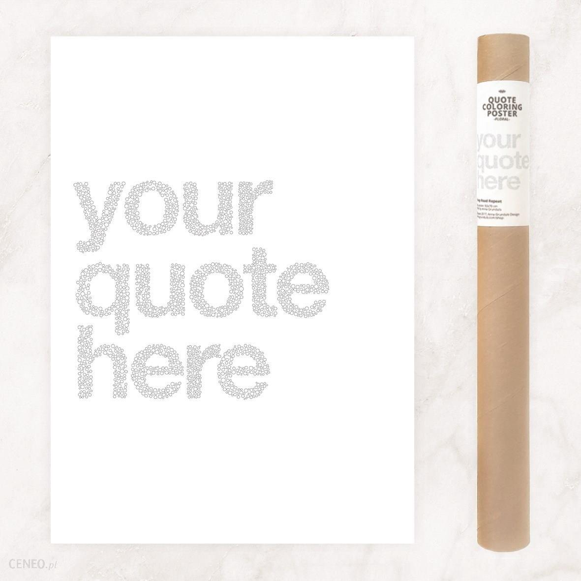 Plakat Do Kolorowania Z Twoim Tekstem Wzór Z Bąbelkami