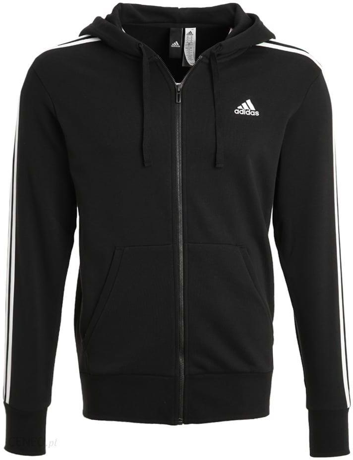 adidas performanceessentials bluza rozpinana black white