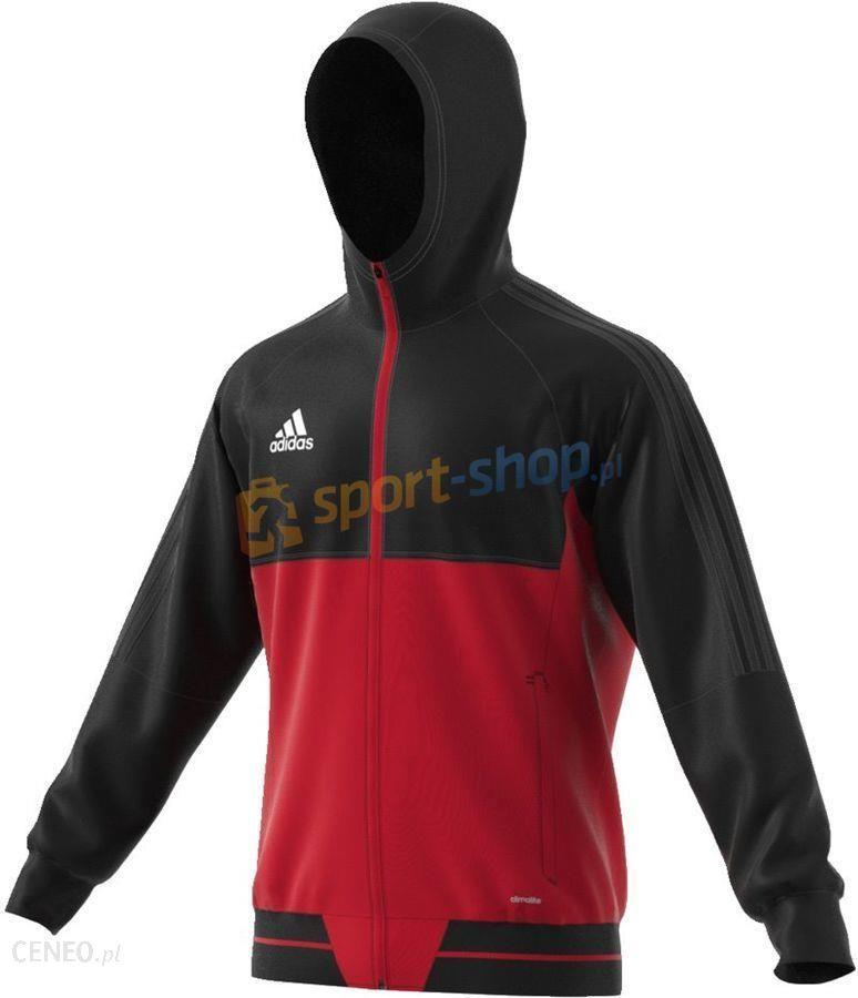 bluza adidas czarno czerwona