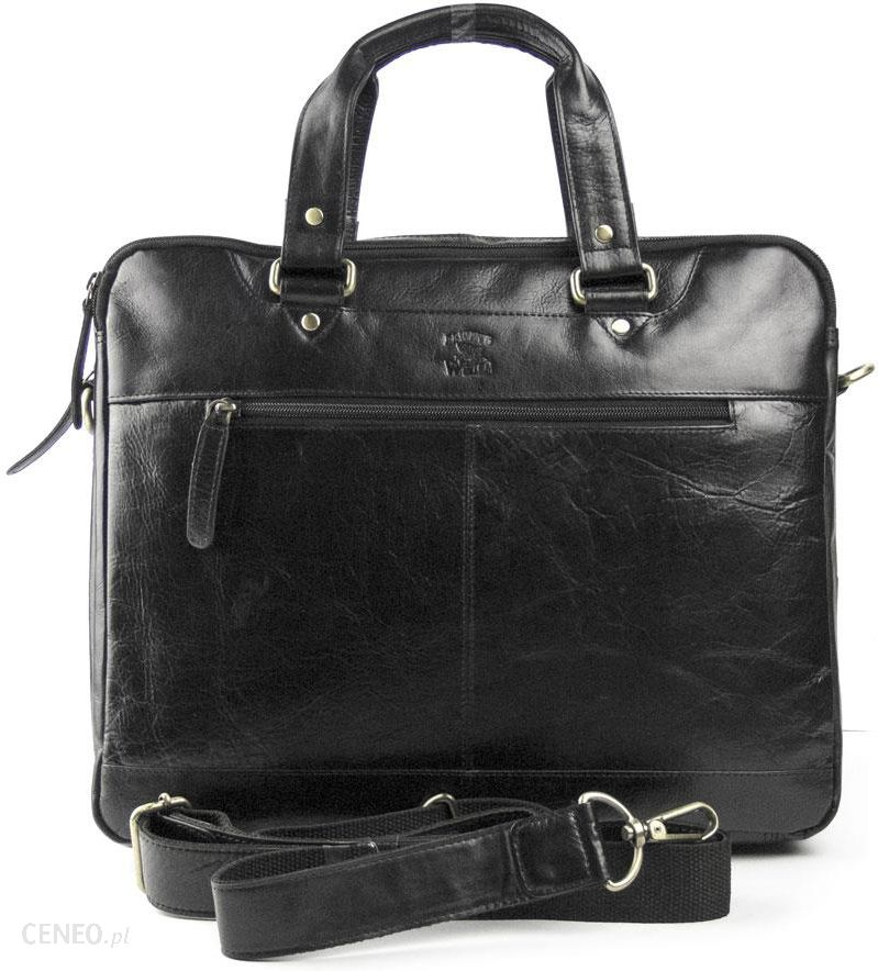 e852a700233ae Męska torba skórzana Always Wild na laptop 801 15 CBH czarna - zdjęcie 1