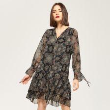 b6c0414b25 Reserved - Zwiewna sukienka w stylu boho - Wielobarwny - damska