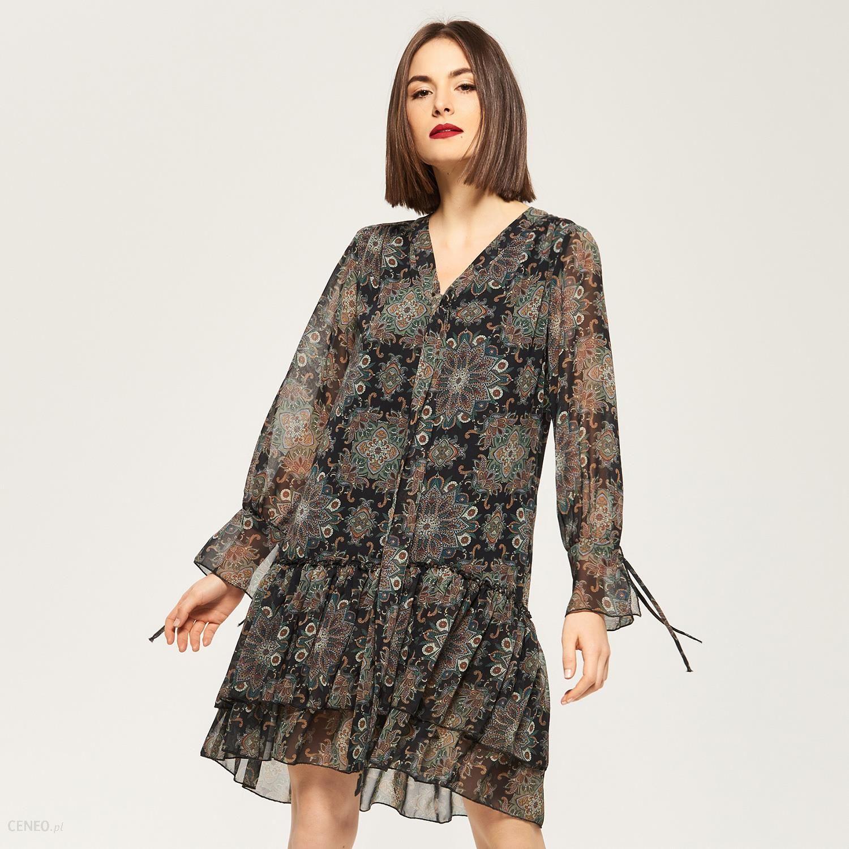 afbf88e56f Reserved - Zwiewna sukienka w stylu boho - Wielobarwny - damska - zdjęcie 1