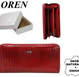 3c72d170721f4 Portfel damski skórzany lakierowany LOREN czerwony - Ceny i opinie ...