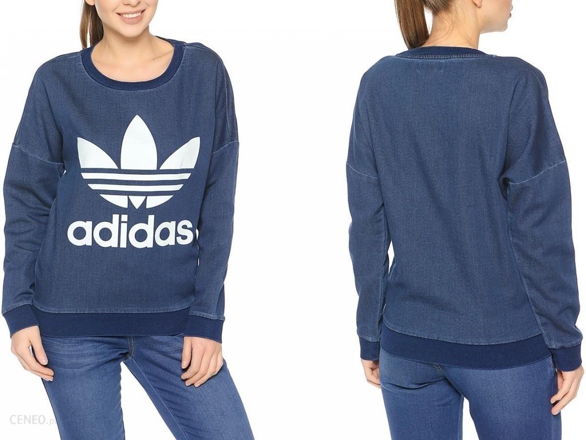 Adidas originals adidas bluza damska track denim sweat