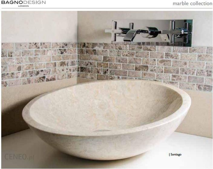 Umywalka bagno design marble santiago marmur beige cream beż