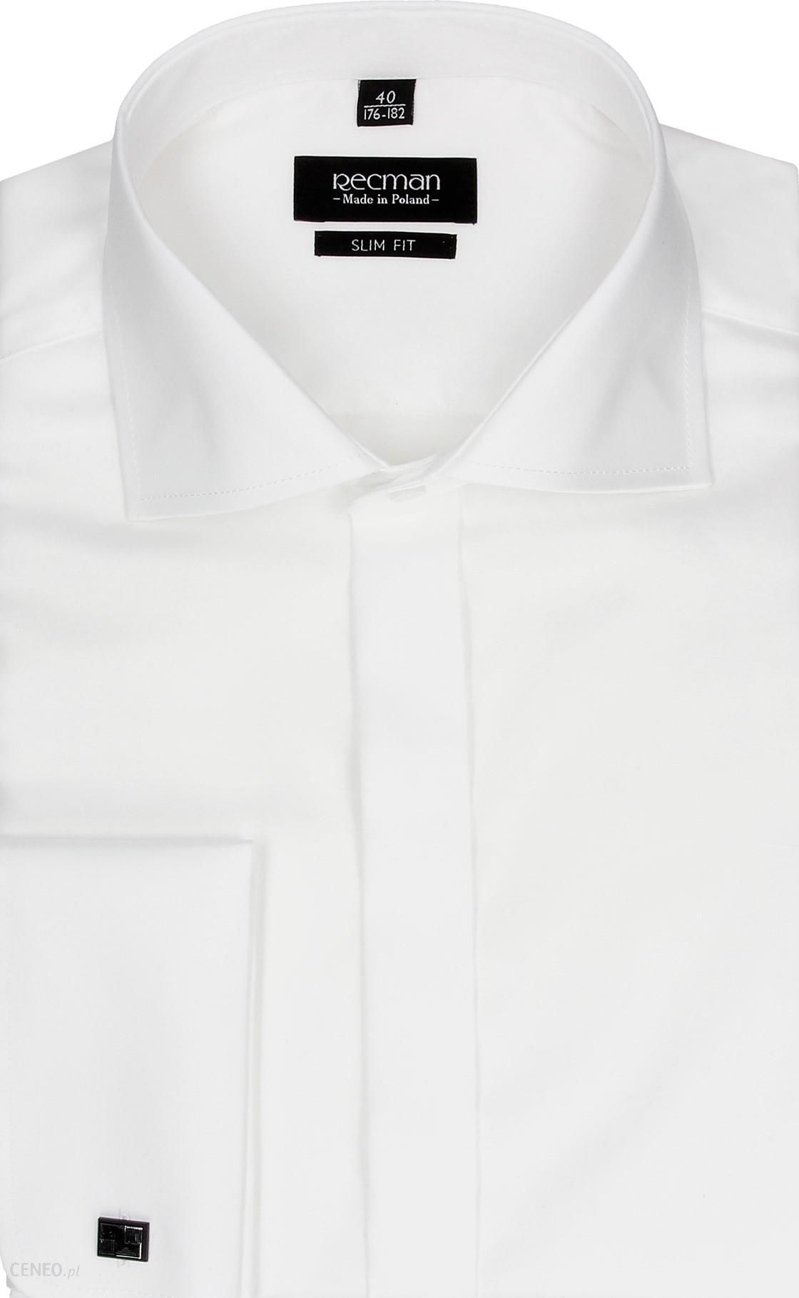 Bordowa koszula męska MMER 221N 176 182 40 SLIM