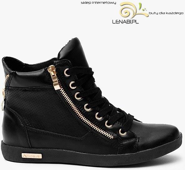 212da767bb3c09 Sneakersy ze złotym suwakiem Czarne Trampki - Ceny i opinie - Ceneo.pl