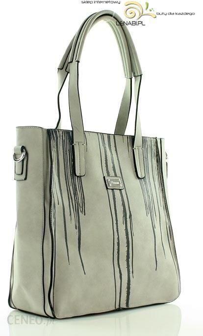 7a5c4d825fa22 Prostokątna torebka shopper bag szary - Ceny i opinie - Ceneo.pl